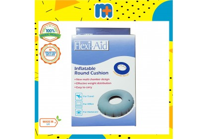 [MPLUS] FLEXI-AID VELVET AIR RING INFLATABLE ROUND CUSHION